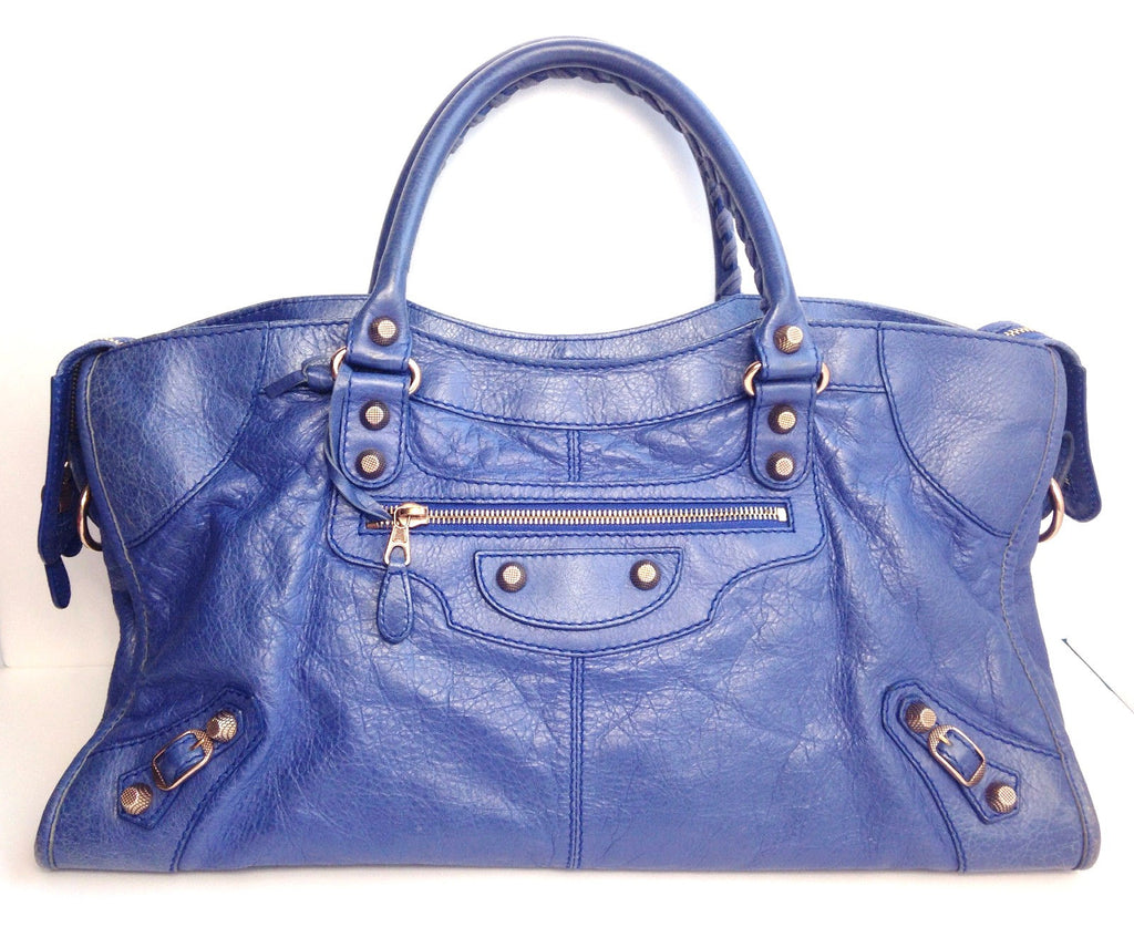 "Balenciaga Blue "" Arena"" Large Shoulder Bag - Joyce's Closet  - 1"