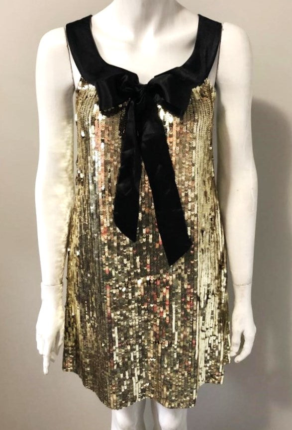 Blue Plate Gold Sequin Dress Size S