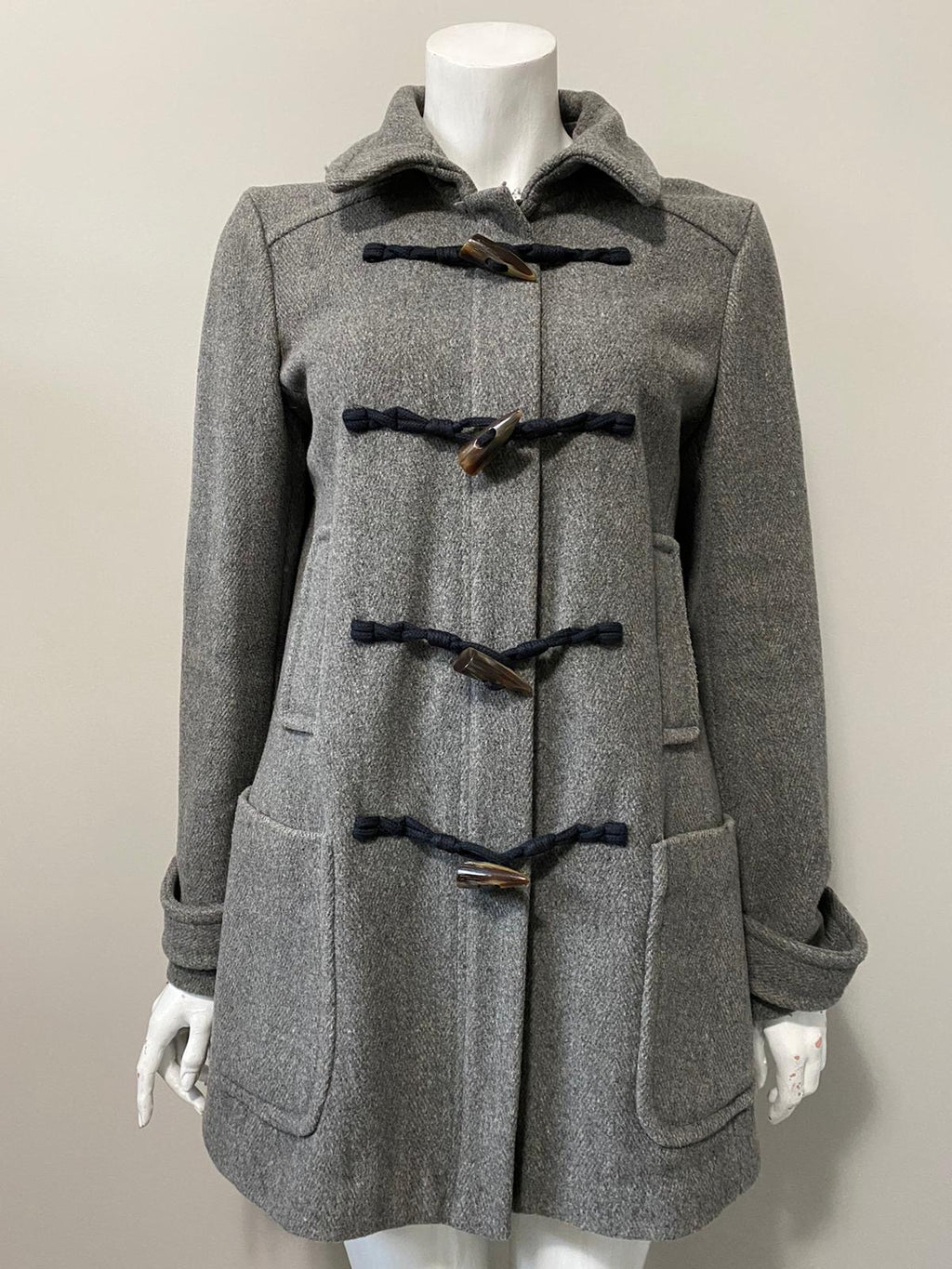 Banana Republic Grey Wool Peacoat Size M