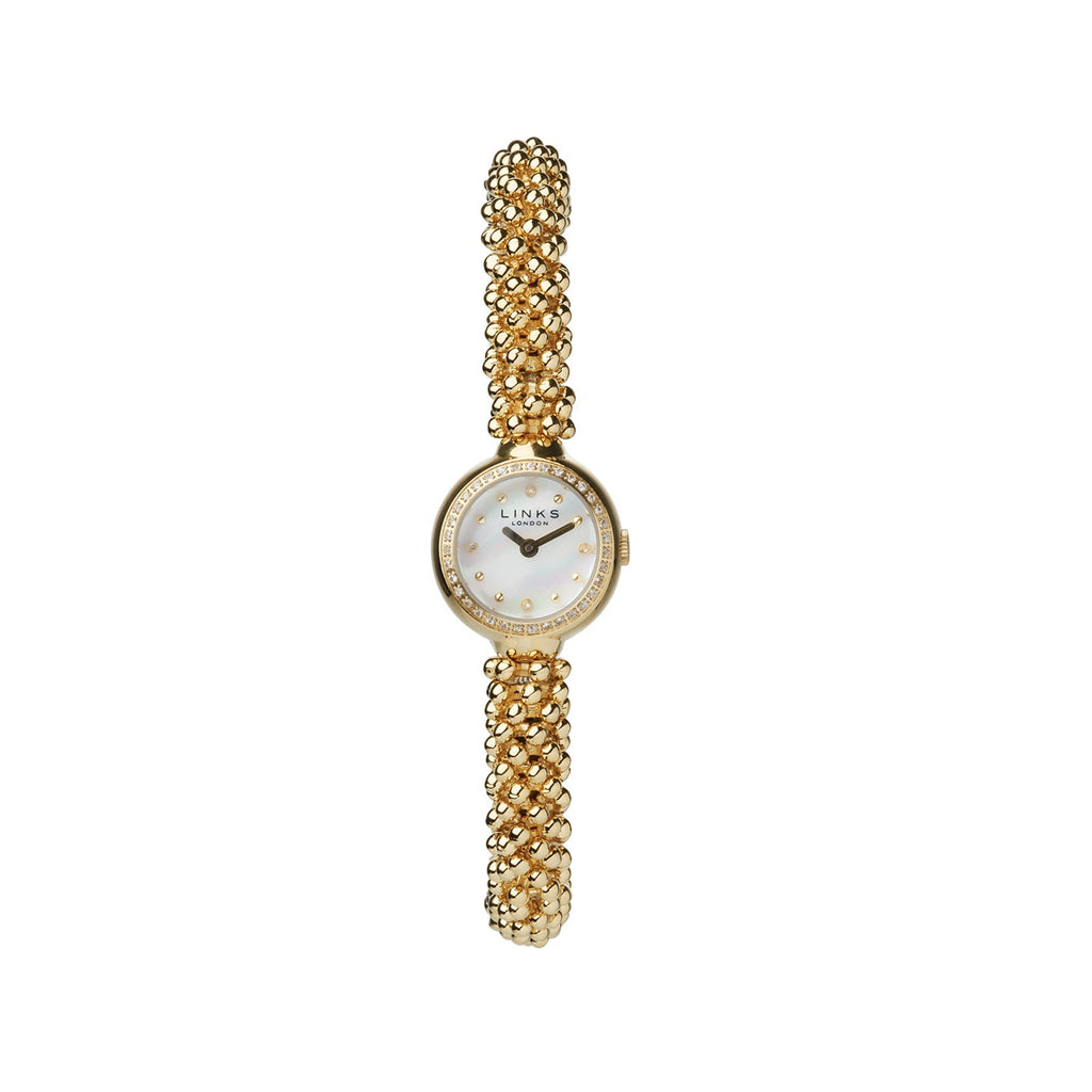 Brand New Links Of London Effervescence Star Sapphire Yellow Gold Watch