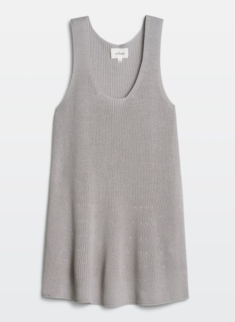 Brand New Wilfred Pinson Grey Light Knit Top Size S
