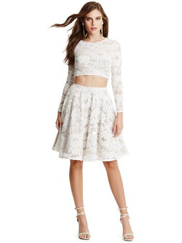 Brand New Marciano Joss White Lace Set Top Skirt - Joyce's Closet  - 1