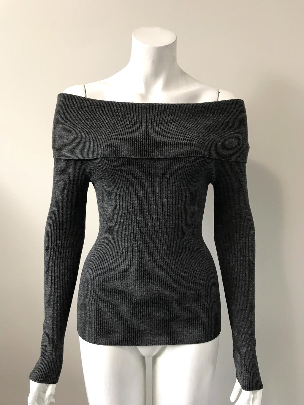 Wilfred Grey Croquis Off Shoulder Sweater Top Size XS