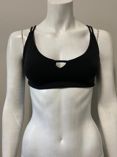 Brand New Spiritual Gangster Black Sports Bra Top Size M
