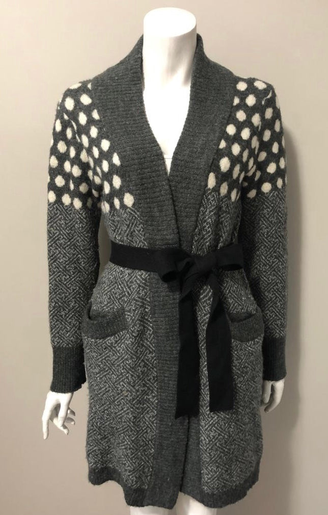 Juicy Couture Grey Belted Long Sweater Size M