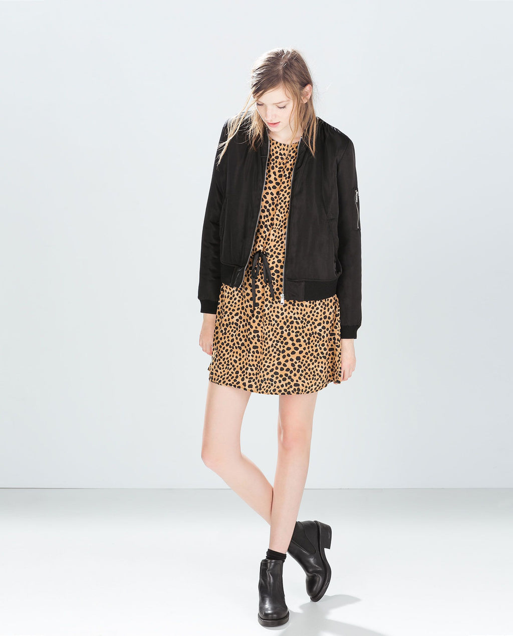 Zara Animal Print Dress Size M