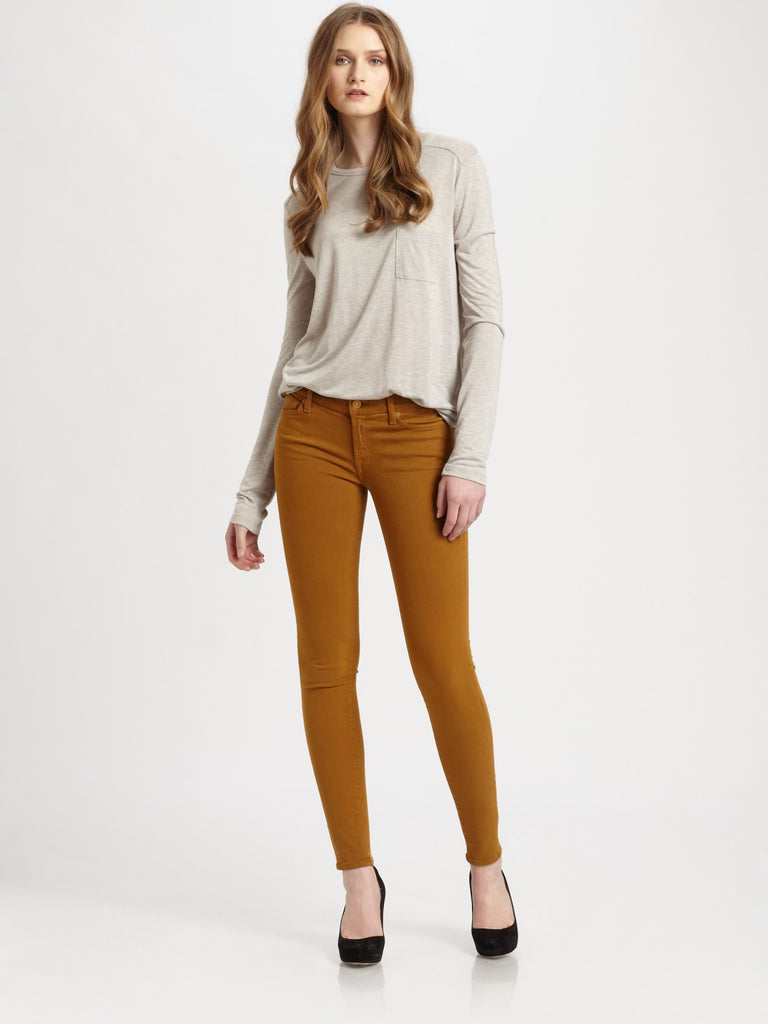 "Seven For All Mankind ""The Skinny Twill"" Brown Skinny Jeans - Joyce's Closet  - 1"