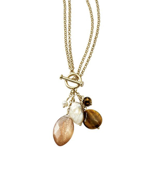 Lia Sophia Natural Charm Necklace - Joyce's Closet  - 1