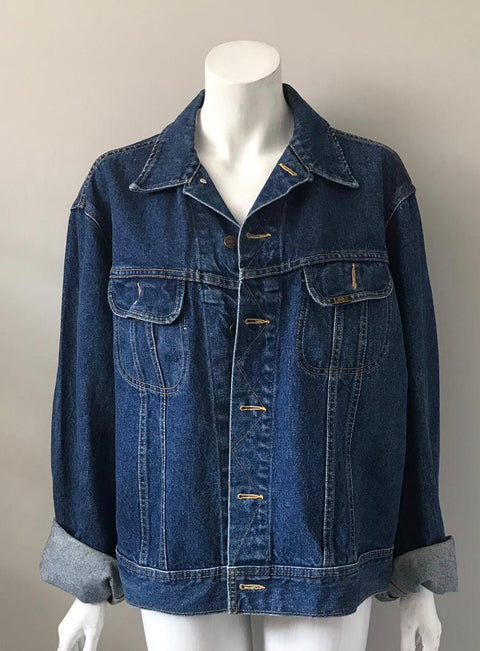 Vintage Lee Blue Denim Jacket Size L/XL