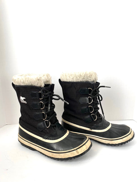Sorel Black Snow Boots Size 7