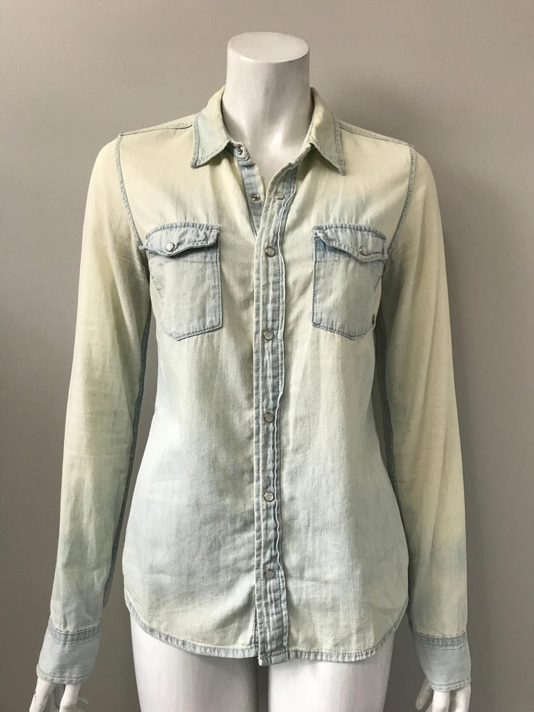 TNA Blue Ombre Denim Shirt Size M