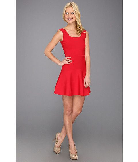 "BCBG Max Azria Red ""Chambrey"" Rid Red A Line Dress - Joyce's Closet  - 1"