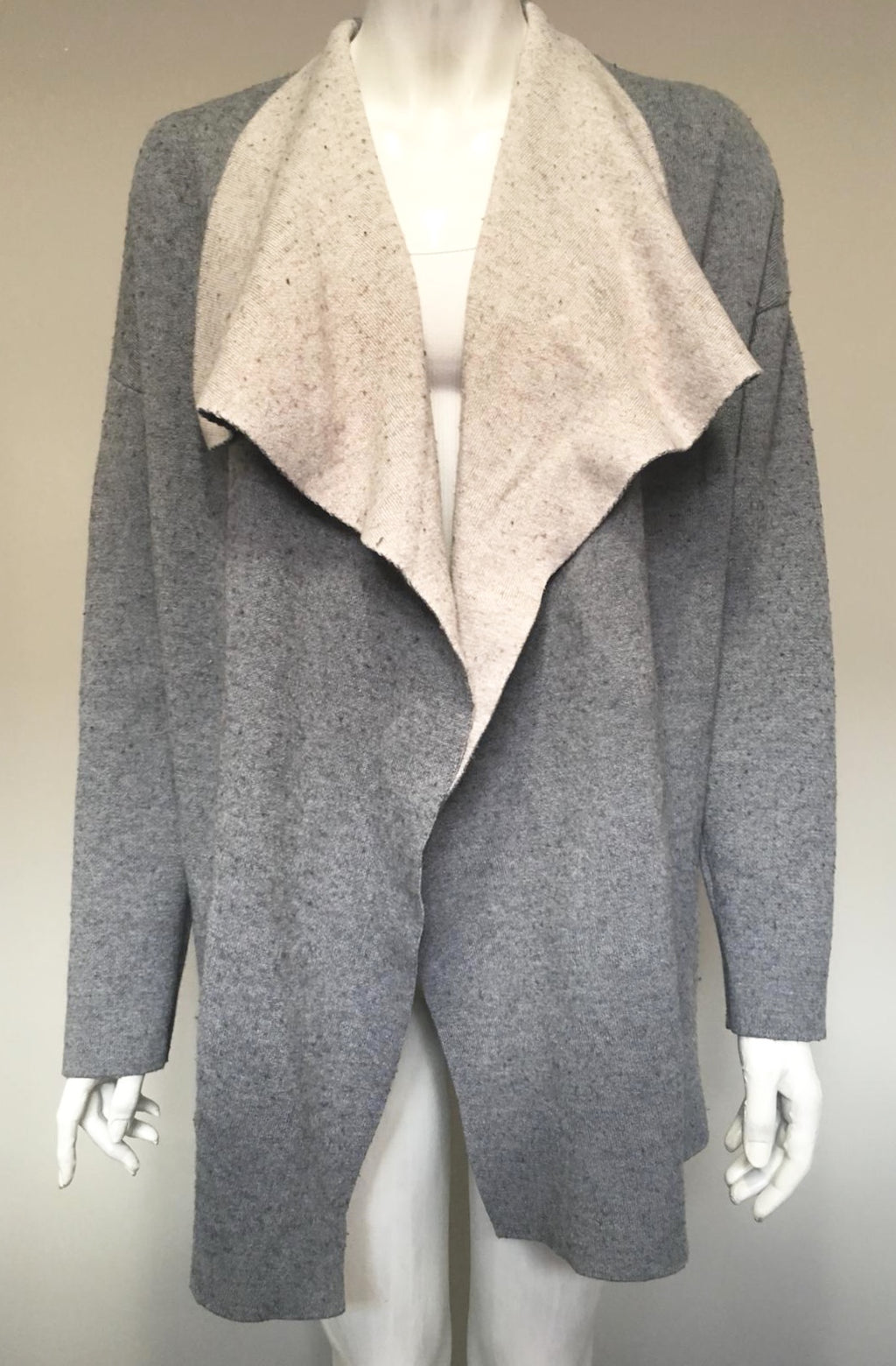 Catherine Malandrino grey Draped Sweater Size L