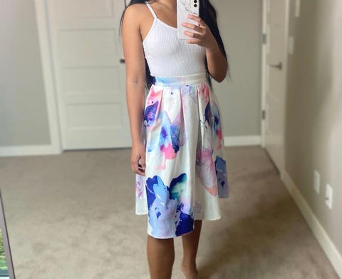 Brand New Mia Pastel Floral Skirt Size XS