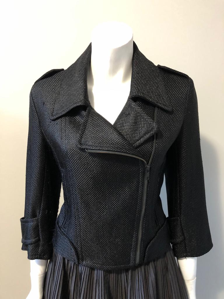 French Connection Black Crop Blazer Jacket Size 6