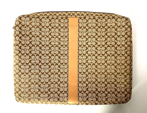Coach Brown Monogram Laptop Case