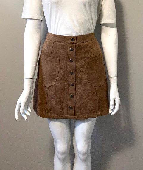 Love By Design Brown Mini Skirt Size S