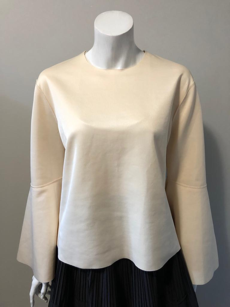 Topshop Boutique Cream Bell Sleeve Blouse Size 6