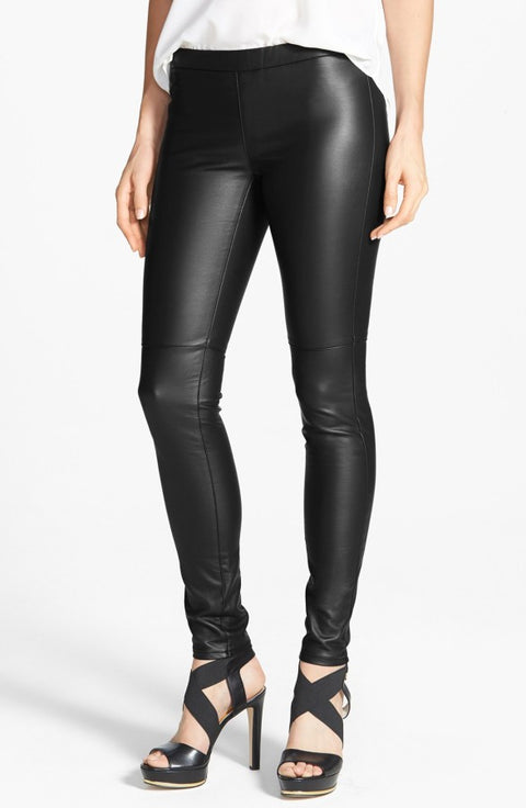 Michael Kors Black Faux Leather Pants Size 6
