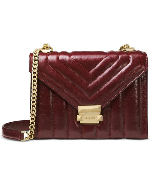 Brand New Michael Kors Whitney Oxblood Box Bag