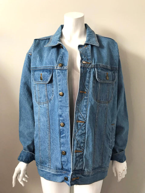 Vintage Wrangler Blue Oversized Denim Jacket Size XL
