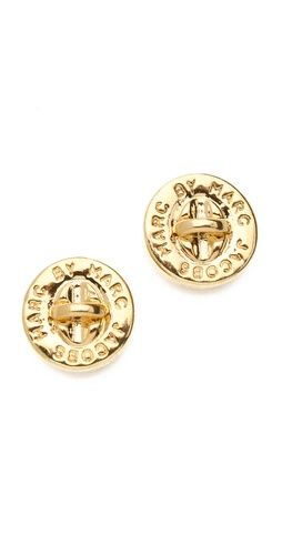 New Marc by Marc Jacobs Turnlock Stud Earring