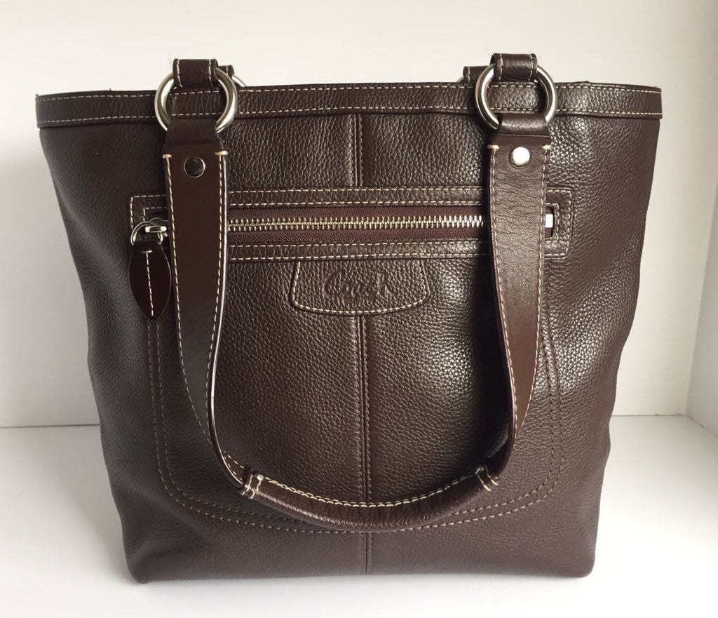 Coach Large Brown Leather Tote