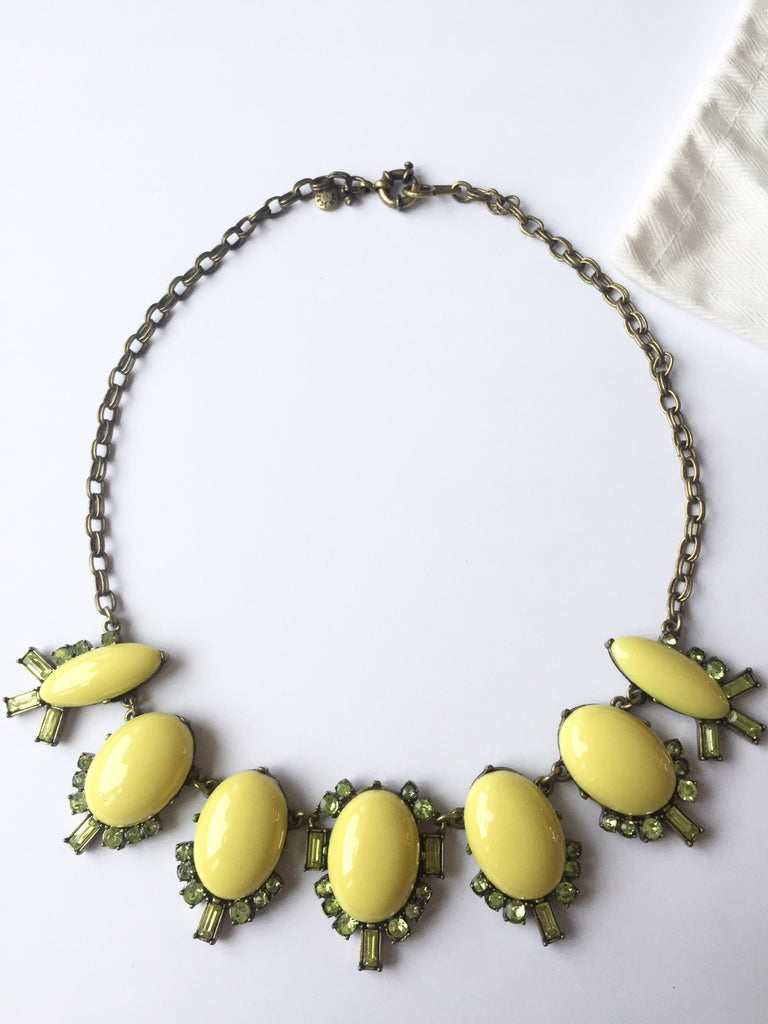 J.Crew Yellow Bubble Statement Necklace