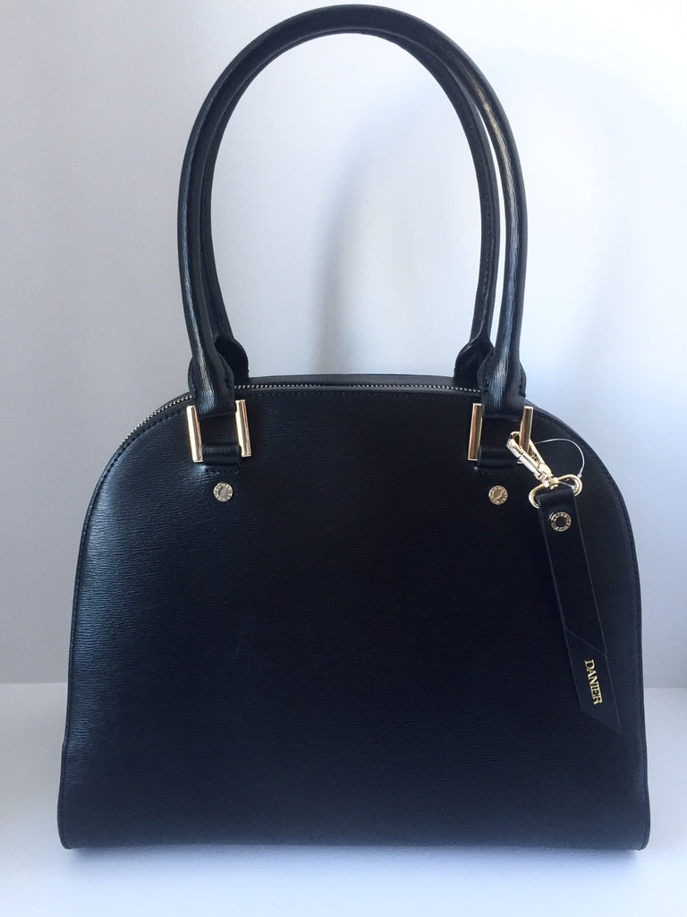 Brand New Danier Leather Black Coated Leather Handbag