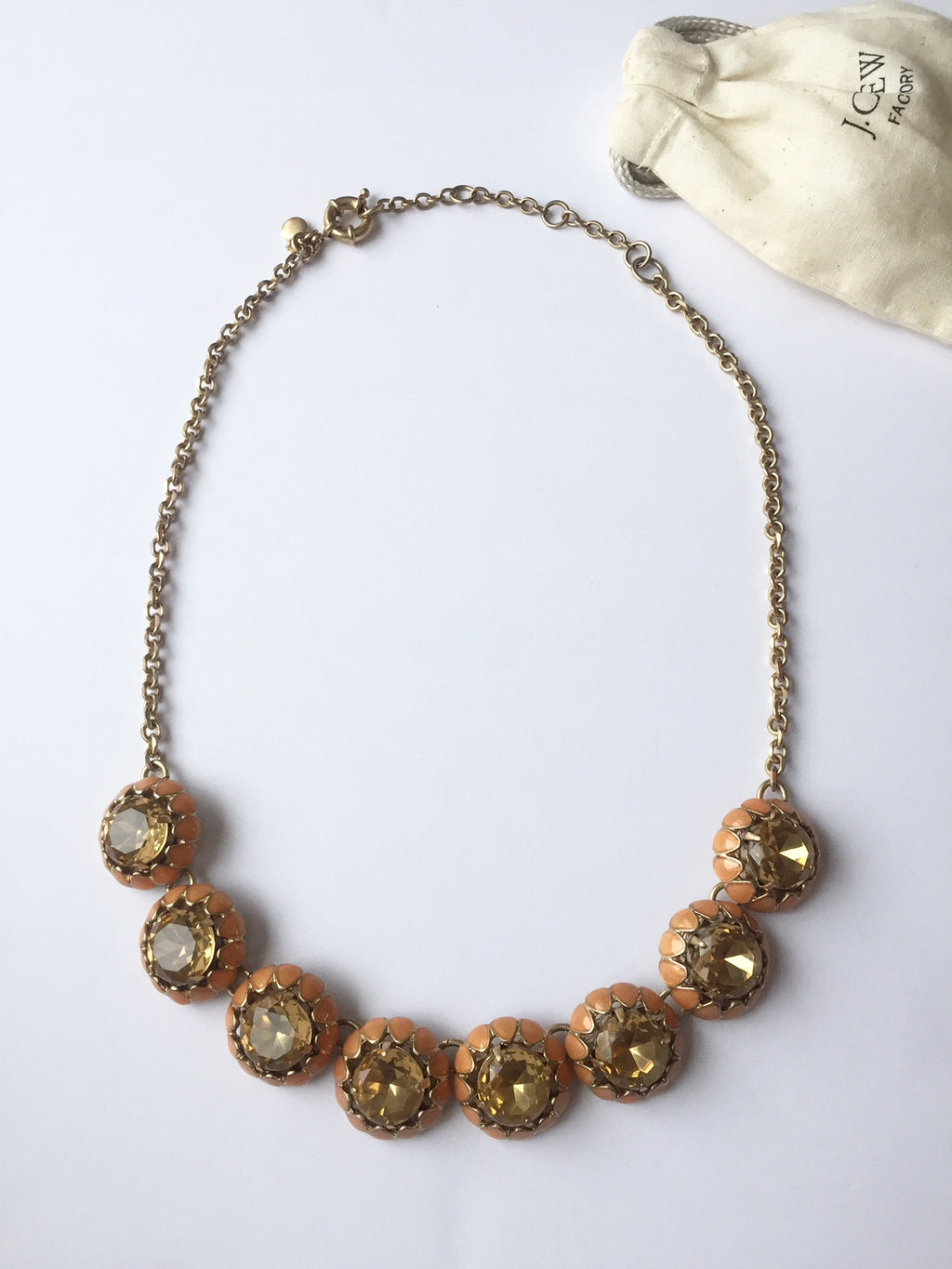 J.Crew Peach Circle Necklace