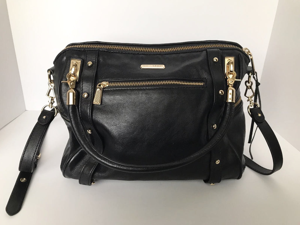 Rebecca Minkoff Large Black Leather Satchel