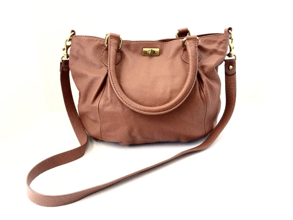 J.Crew Dorset Brown Leather Hobo Handbag