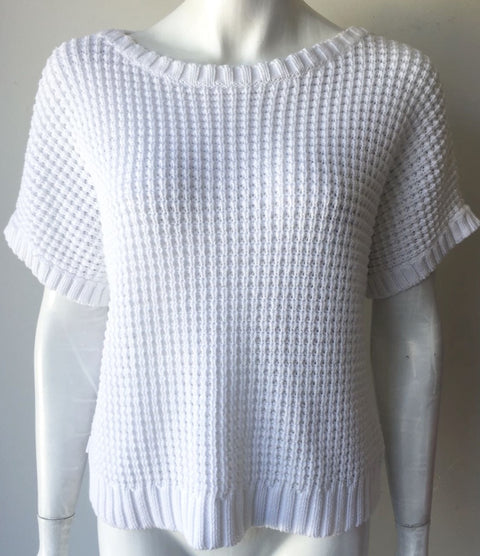 Ralph Lauren Active White Knit Sweater Size S