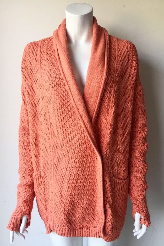 "Lululemon "" Post Practice"" Coral Oversized Sweater Size 6"