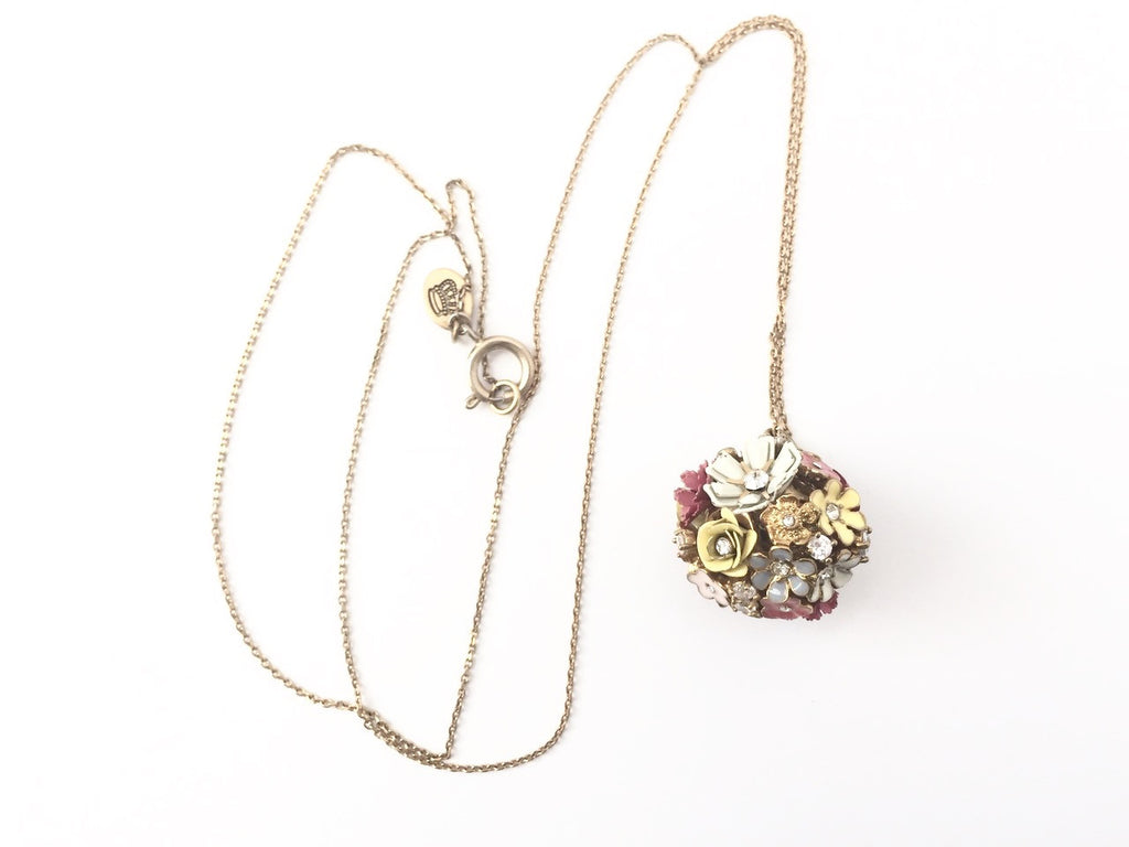 Juicy Couture Multi- Color Flower Ball Necklace