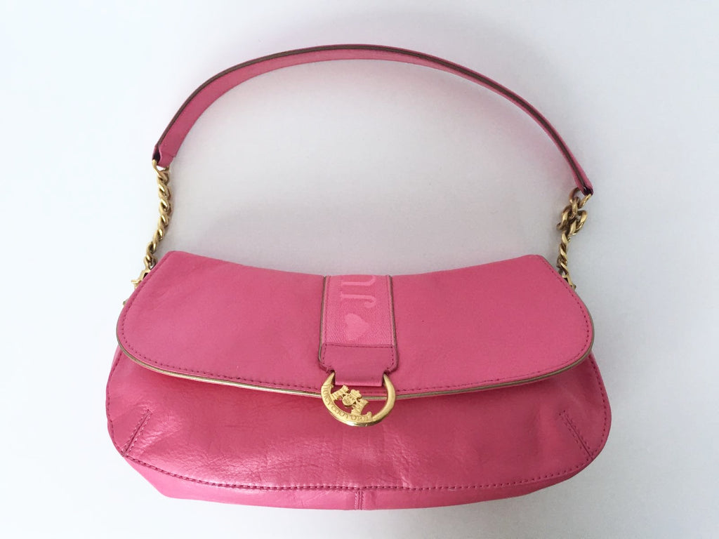 Juicy Couture Pink Leather Shoulder Bag