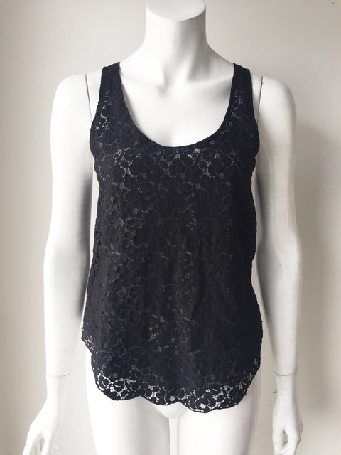 Talula Black Lace Sleeveless Tank  Top Size XS