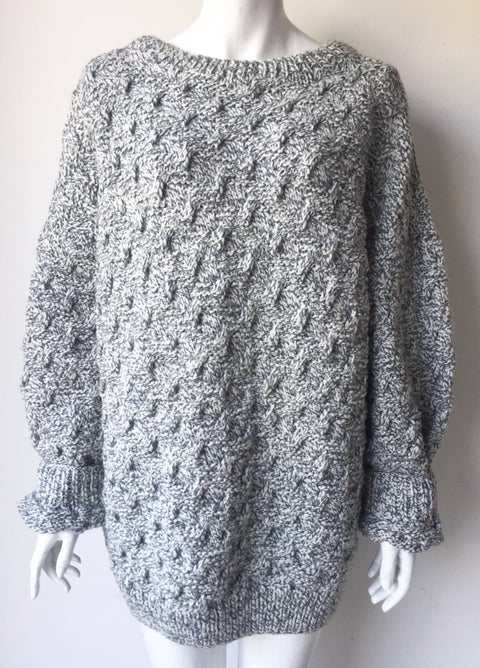 Isabel Marant Oversized Grey Knit Sweater Size XL