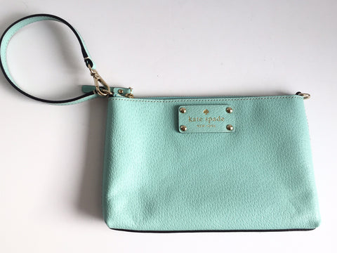 Kate Spade Mint Green Mini Wristlet Bag