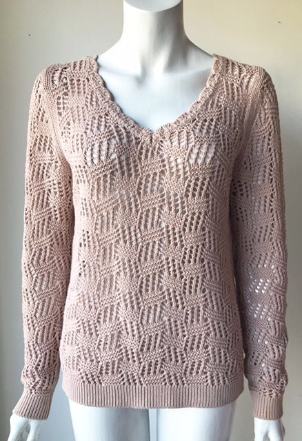 Loft by Ann Taylor Beige Knit Sweater Size S