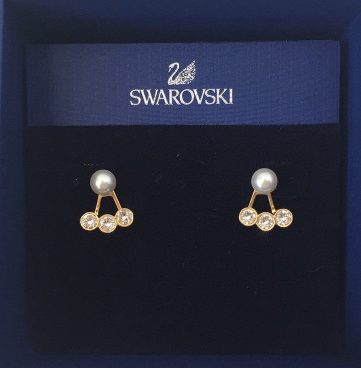 Brand New Swarovksi Caress Pierced Jacket Earring 5123879