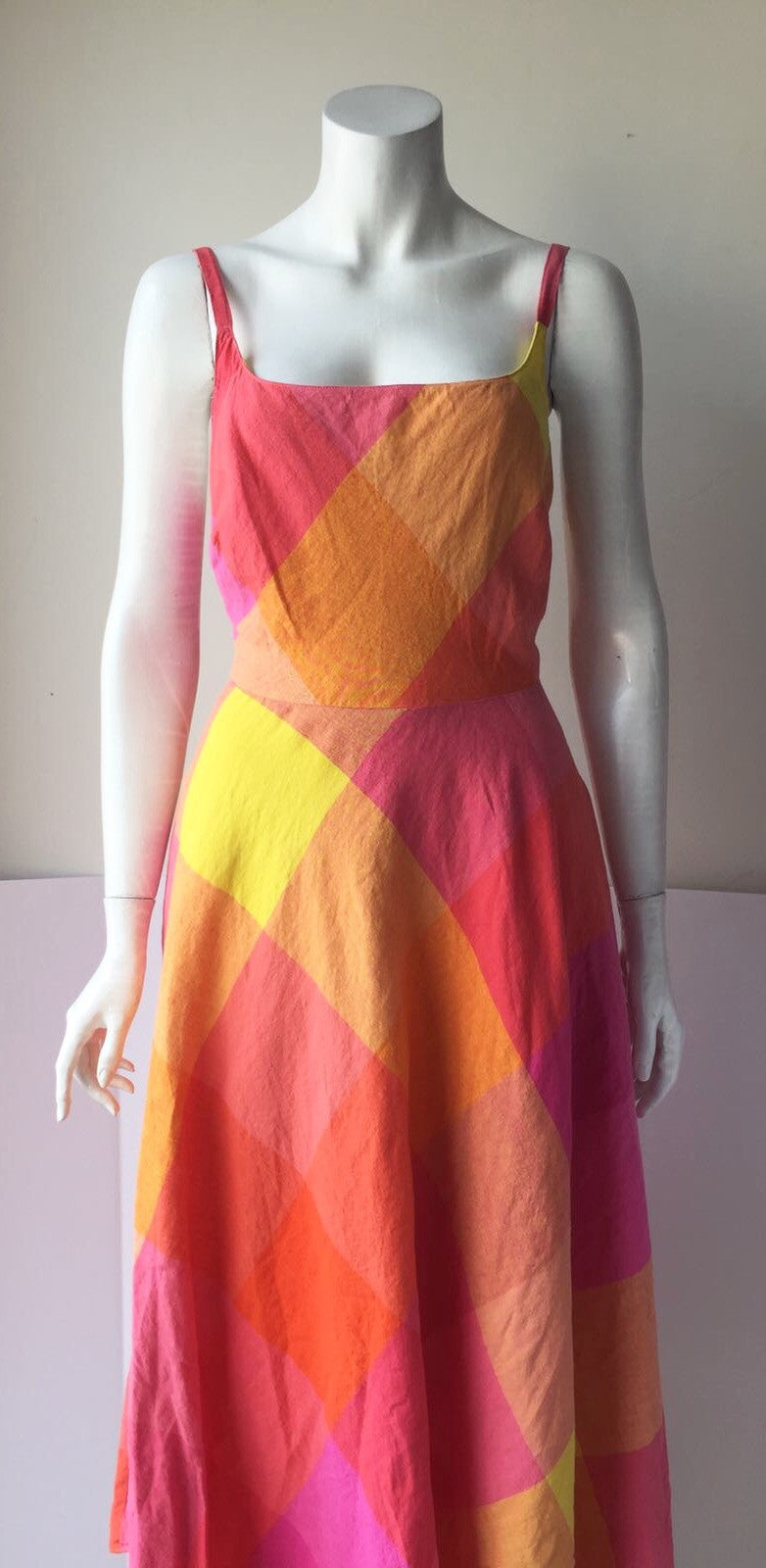 Liz Claiborne Multi-Color A Line Maxi  Dress Size 10