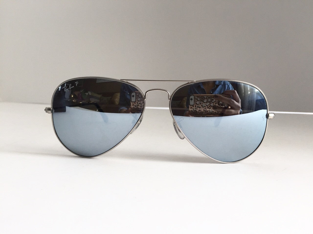 d83babb67b62 Ray-Ban RB3025 Silver Mirrored Polarized Aviator Sunglasses ...