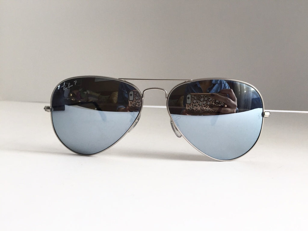Ray-Ban RB3025 Silver Mirrored Polarized Aviator Sunglasses