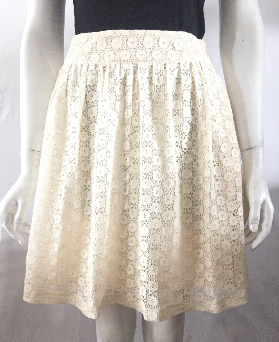 Tulle Cream Lace Skirt Size XS