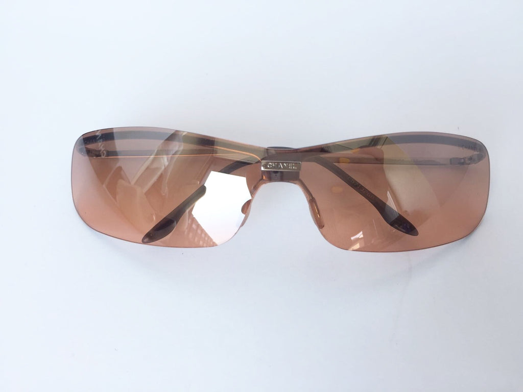 Chanel 4043 Brown Rimless Sunglasses