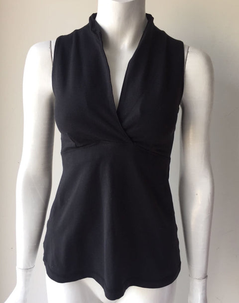 Lululemon Black Sleeveless Exercise Top Size 10