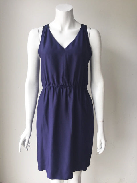 Mexx Blue Sleeveless Silk Dress Size 6