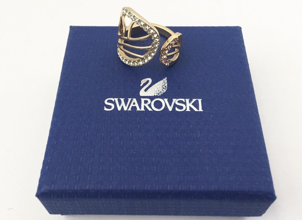 Brand New Swarovski Candy Crystal Butterfly Wing Ring Size 6.5 511321
