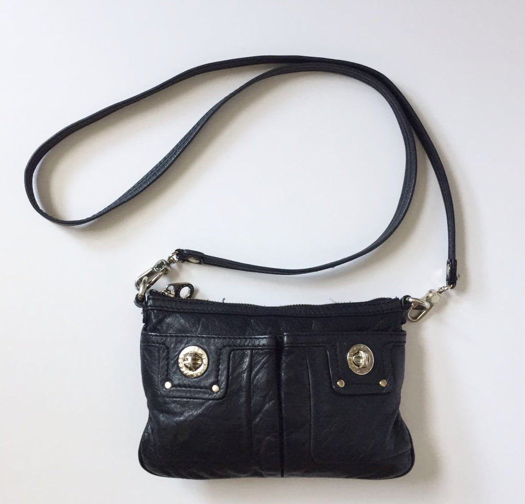 Marc By Marc Jacob Black Leather Cross-Body Bag